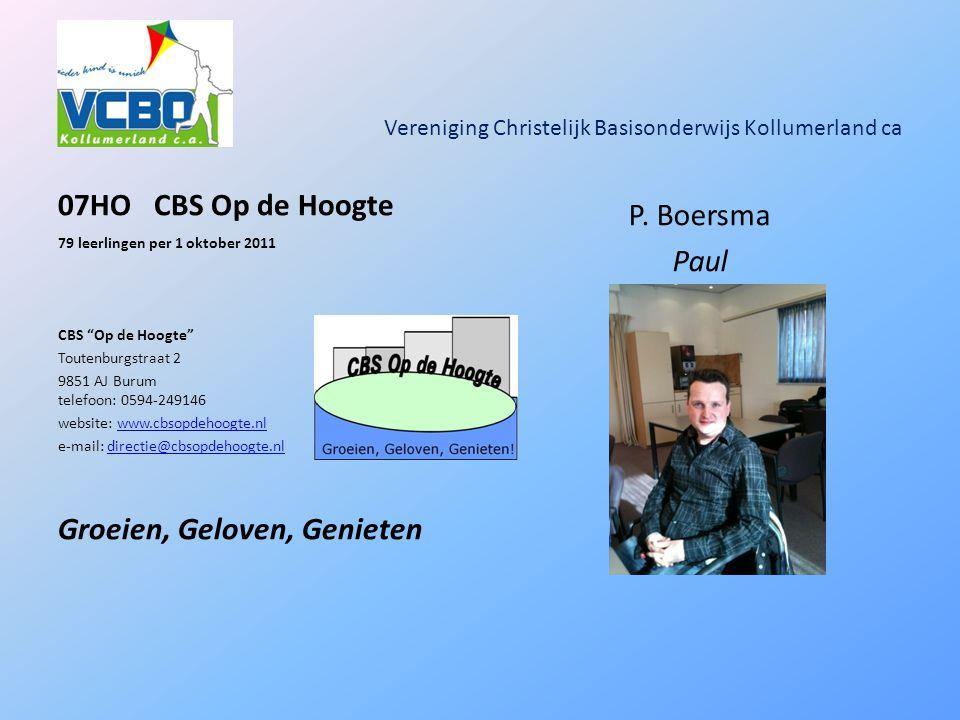 Vereniging Christelijk Basisonderwijs Kollumerland ca 07HOCBS Op de Hoogte 79 leerlingen per 1 oktober 2011 CBS Op de Hoogte Toutenburgstraat 2 9851 AJ Burum telefoon: 0594-249146 website: www.cbsopdehoogte.nlwww.cbsopdehoogte.nl e-mail: directie@cbsopdehoogte.nldirectie@cbsopdehoogte.nl Groeien, Geloven, Genieten P.