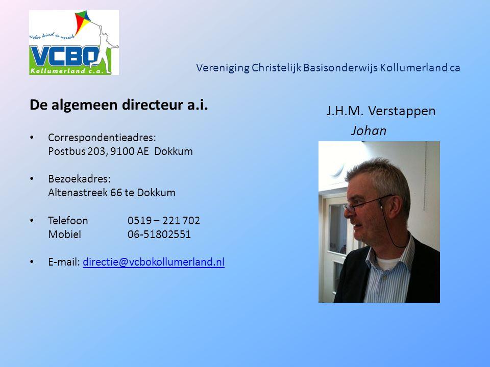 Vereniging Christelijk Basisonderwijs Kollumerland ca De algemeen directeur a.i.