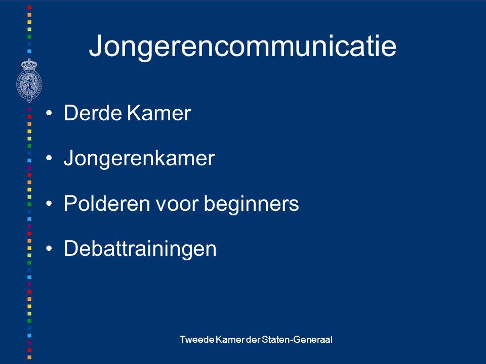 Tweede Kamer der Staten-Generaal Jongerencommunicatie Derde Kamer Jongerenkamer Polderen voor beginners Debattrainingen