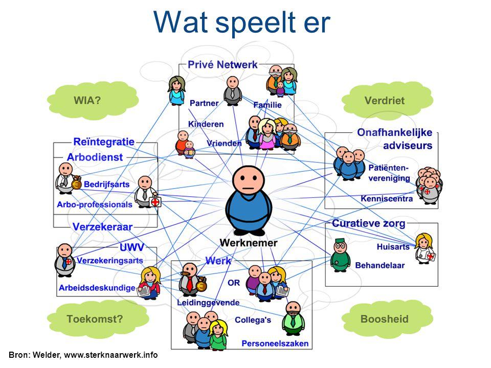 Wat speelt er Bron: Welder, www.sterknaarwerk.info