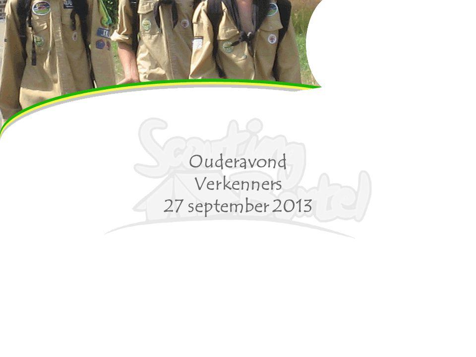 Ouderavond Verkenners 27 september 2013