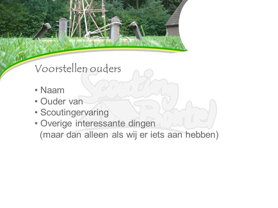 Scouting boxtel 218 jeugdleden + 77 leiding/kader = 280 leden Top 10 groep van Nederland op aantal leden 14 speltakken Vrijwilligers gezocht