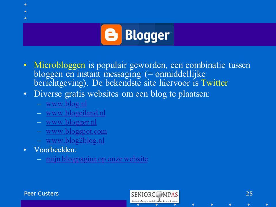Microbloggen is populair geworden, een combinatie tussen bloggen en instant messaging (= onmiddellijke berichtgeving). De bekendste site hiervoor is T