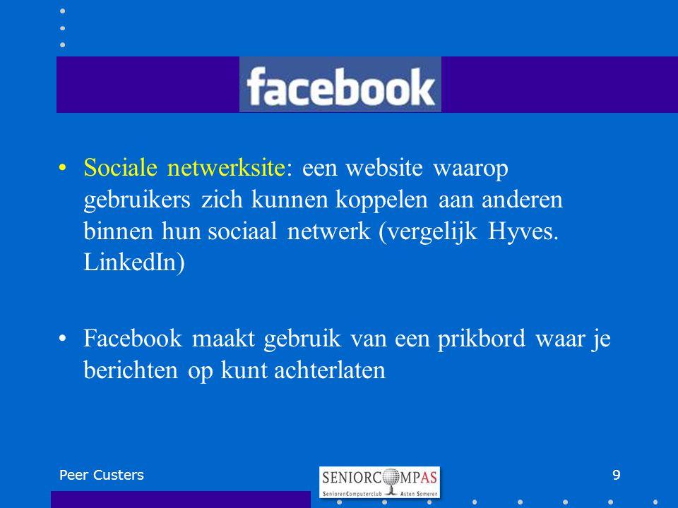 Sociale netwerksite: een website waarop gebruikers zich kunnen koppelen aan anderen binnen hun sociaal netwerk (vergelijk Hyves. LinkedIn) Facebook ma