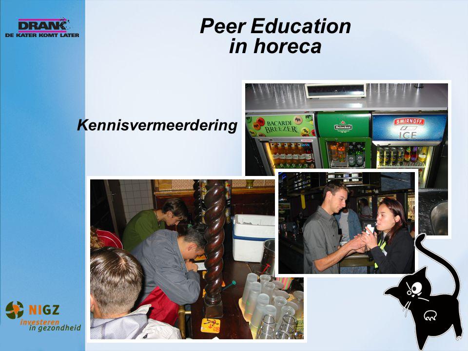 Peer Education in horeca Kennisvermeerdering