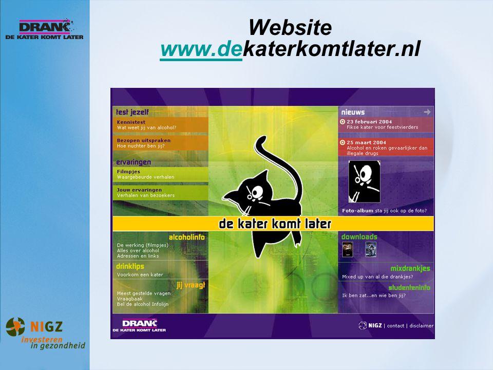 Website www.dekaterkomtlater.nl www.de