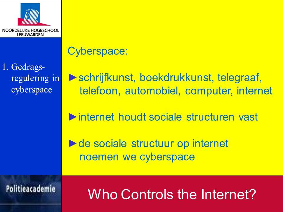 Informatie van andere instanties: ►ISP's ►financiële instellingen ►beveiligings-experts Who Controls the Internet.