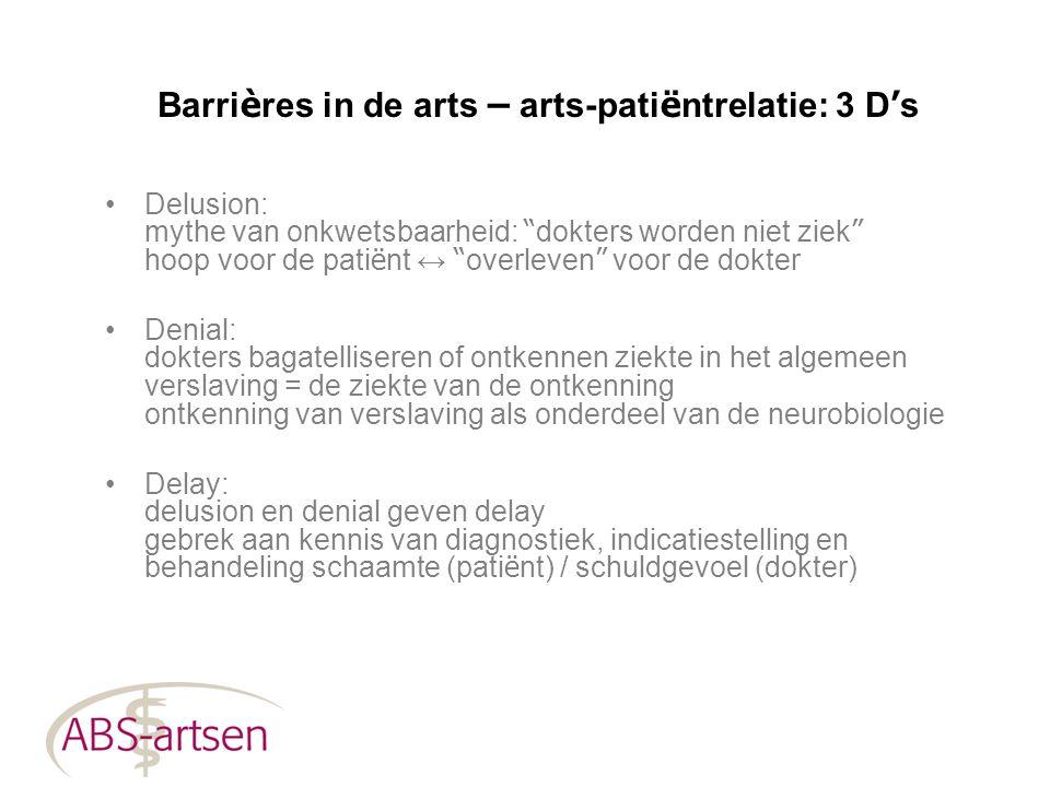 """Barri è res in de arts – arts-pati ë ntrelatie: 3 D ' s Delusion: mythe van onkwetsbaarheid: """" dokters worden niet ziek """" hoop voor de pati ë nt ↔ """" o"""