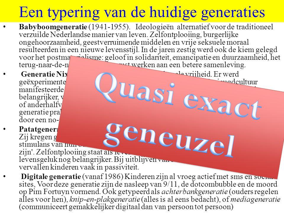 ©vandeSandeinlezingen,2011 Een typering van de huidige generaties Babyboomgeneratie (1941-1955).