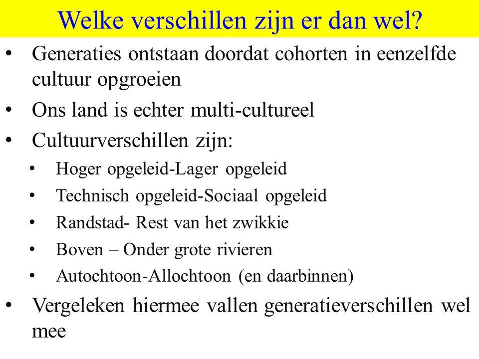 ©vandeSandeinlezingen,2011 Welke verschillen zijn er dan wel.