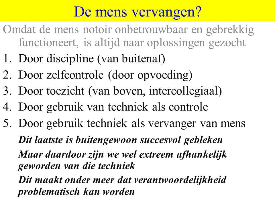 ©vandeSandeinlezingen,2011 De mens vervangen.