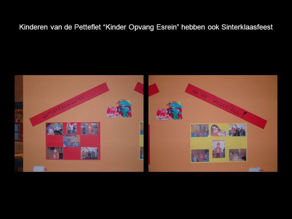 Kinderen van de Petteflet Kinder Opvang Esrein hebben ook Sinterklaasfeest