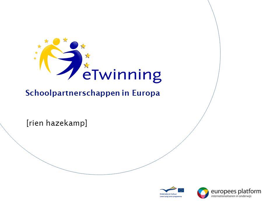 Presentatie Wat is eTwinning? Wie doet wat? Structuur Website (mogelijkheden en stappen)