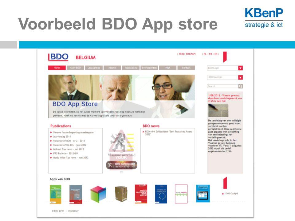 Voorbeeld BDO App store
