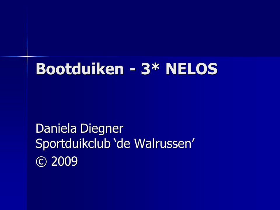 Bootduiken - 3* NELOS Daniela Diegner Sportduikclub 'de Walrussen' © 2009