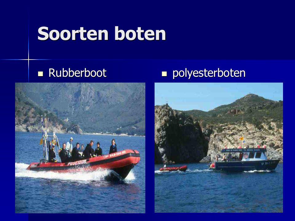 Soorten boten Rubberboot Rubberboot polyesterboten polyesterboten