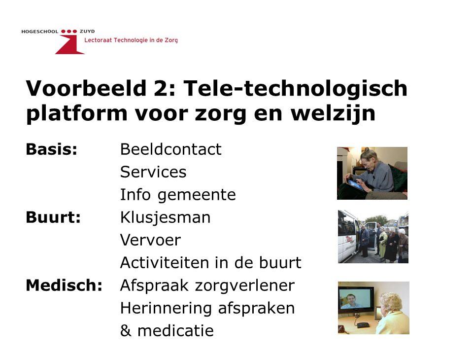 Basis: Beeldcontact Services Info gemeente Buurt: Klusjesman Vervoer Activiteiten in de buurt Medisch: Afspraak zorgverlener Herinnering afspraken & m