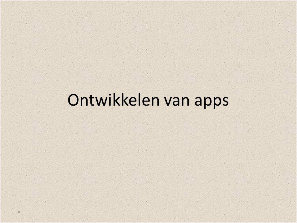 Ontwikkelen van apps 5