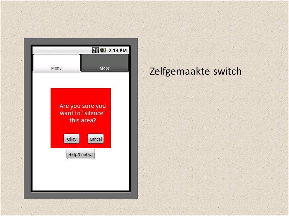 Zelfgemaakte switch