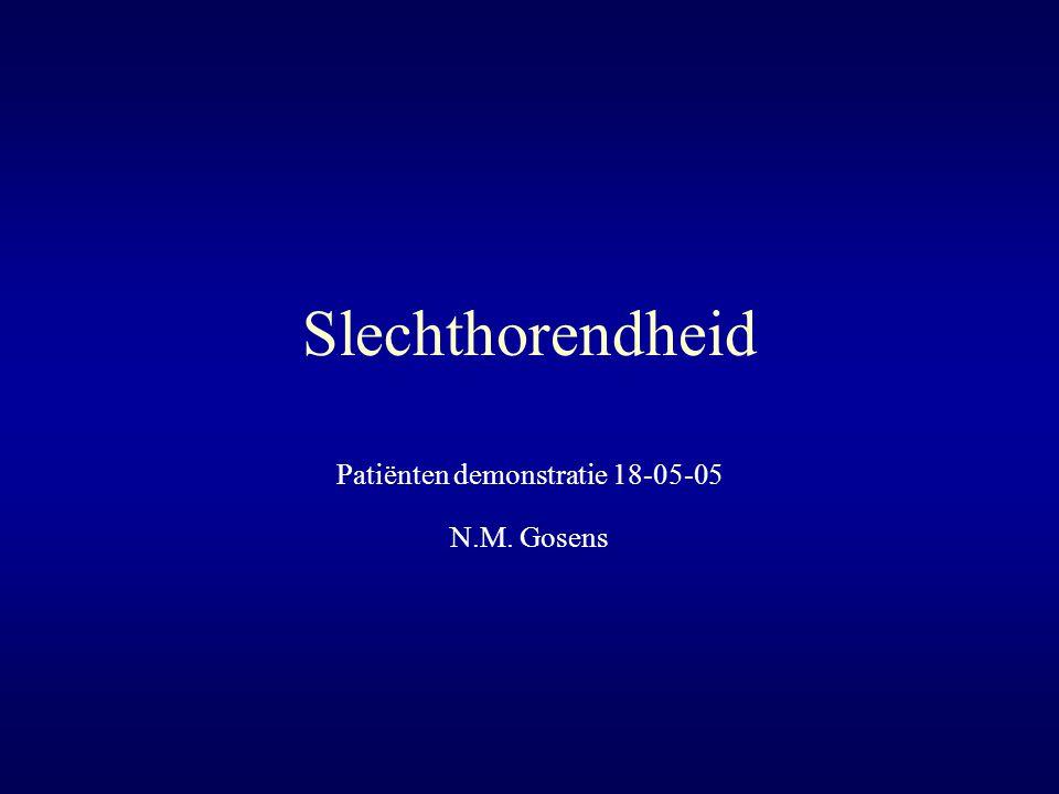 Slechthorendheid Patiënten demonstratie 18-05-05 N.M. Gosens