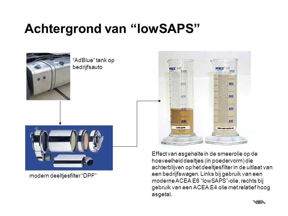 """Achtergrond van """"lowSAPS"""" """"AdBlue"""" tank op bedrijfsauto modern deeltjesfilter """"DPF"""" Effect van asgehalte in de smeerolie op de hoeveelheid deeltjes (i"""