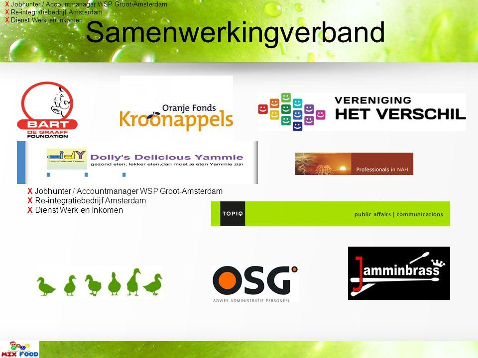 Samenwerkingverband X Jobhunter / Accountmanager WSP Groot-Amsterdam X Re-integratiebedrijf Amsterdam X Dienst Werk en Inkomen X Jobhunter / Accountmanager WSP Groot-Amsterdam X Re-integratiebedrijf Amsterdam X Dienst Werk en Inkomen
