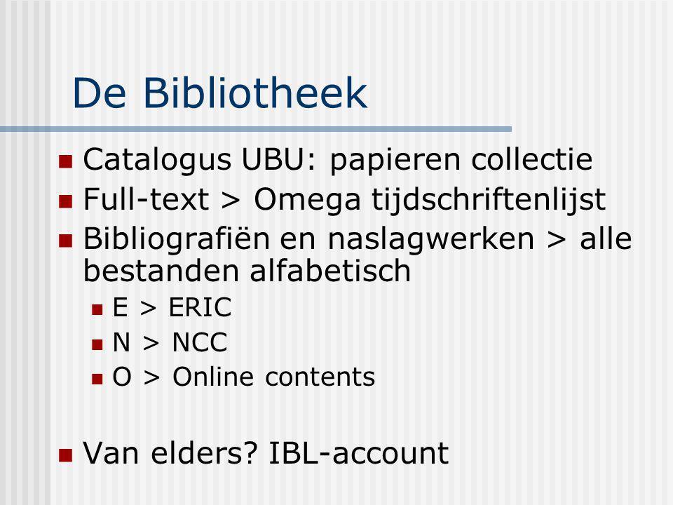 De Bibliotheek Catalogus UBU: papieren collectie Full-text > Omega tijdschriftenlijst Bibliografiën en naslagwerken > alle bestanden alfabetisch E > E