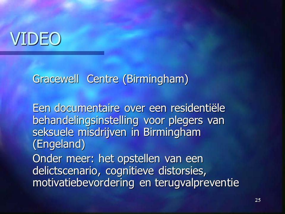 25 VIDEO Gracewell Centre (Birmingham) Een documentaire over een residentiële behandelingsinstelling voor plegers van seksuele misdrijven in Birmingha