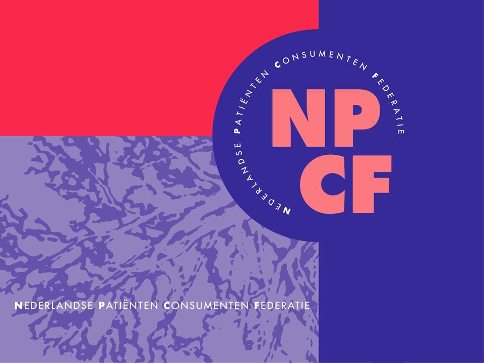 Verwachtingen van consumentenorganisaties Bijeenkomst Meten van klantervaringen in de zorg Iris van Bennekom Directeur NPCF 24 april 2007