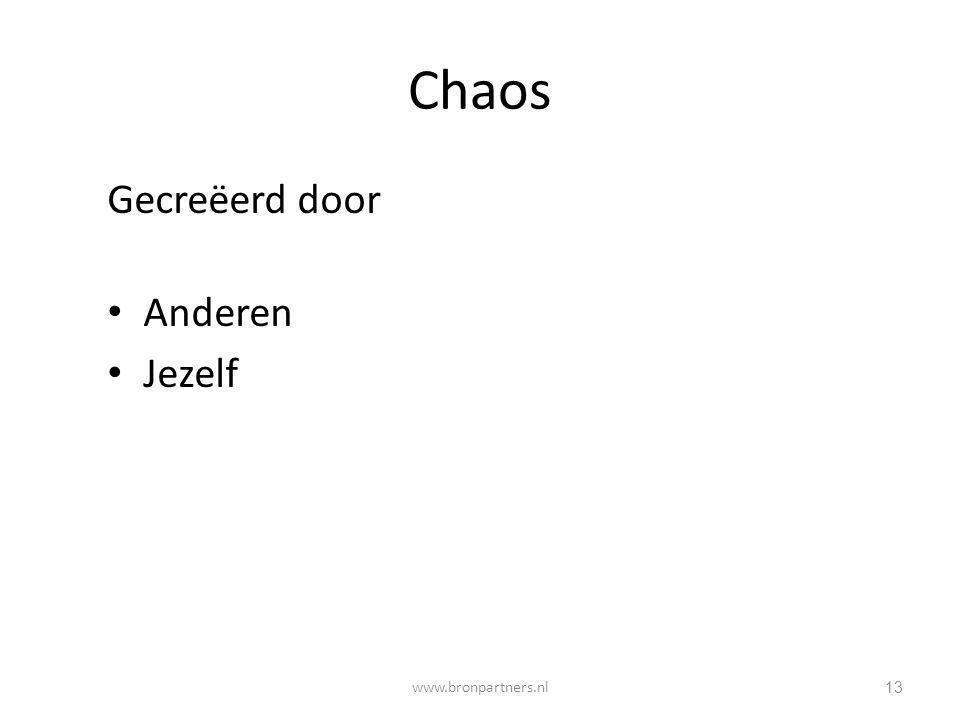 Chaos Gecreëerd door Anderen Jezelf 13 www.bronpartners.nl