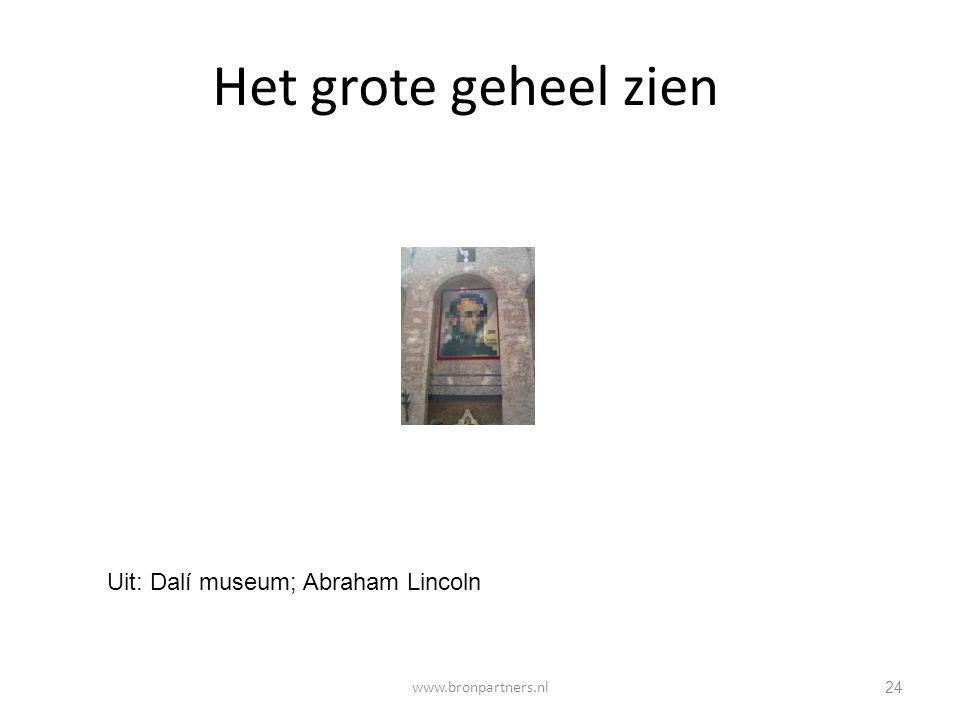 24 Het grote geheel zien Uit: Dalí museum; Abraham Lincoln www.bronpartners.nl