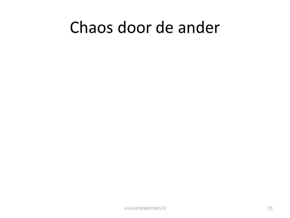 Chaos door de ander 51www.bronpartners.nl