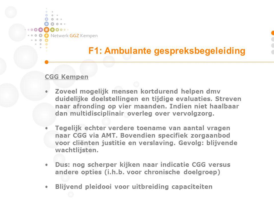CGG Kempen Zoveel mogelijk mensen kortdurend helpen dmv duidelijke doelstellingen en tijdige evaluaties. Streven naar afronding op vier maanden. Indie