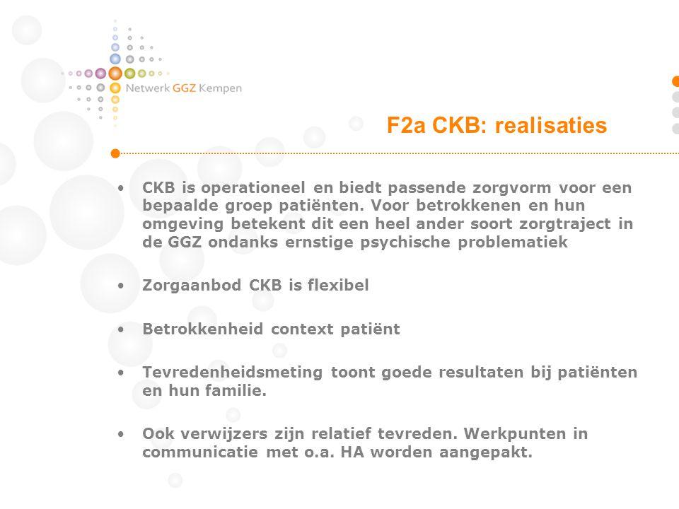 CKB is operationeel en biedt passende zorgvorm voor een bepaalde groep patiënten. Voor betrokkenen en hun omgeving betekent dit een heel ander soort z