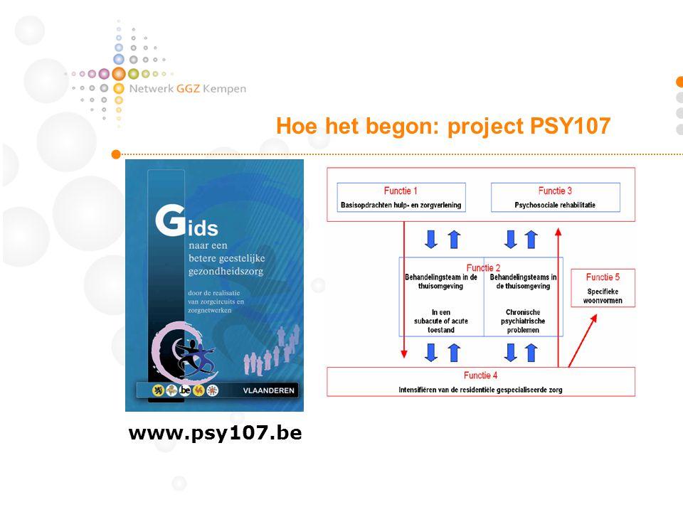 Hoe het begon: project PSY107 www.psy107.be