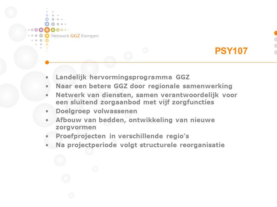 Landelijk hervormingsprogramma GGZ Naar een betere GGZ door regionale samenwerking Netwerk van diensten, samen verantwoordelijk voor een sluitend zorg