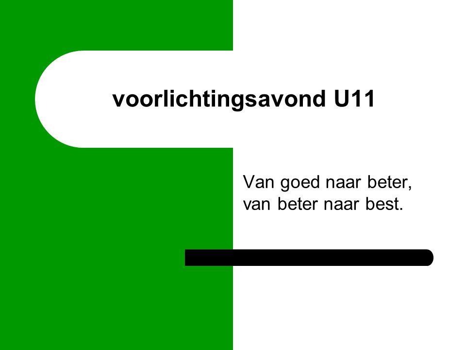 structuur bestuur jeugd commissie coordinator U8-U11 trainer U11A trainer U11B
