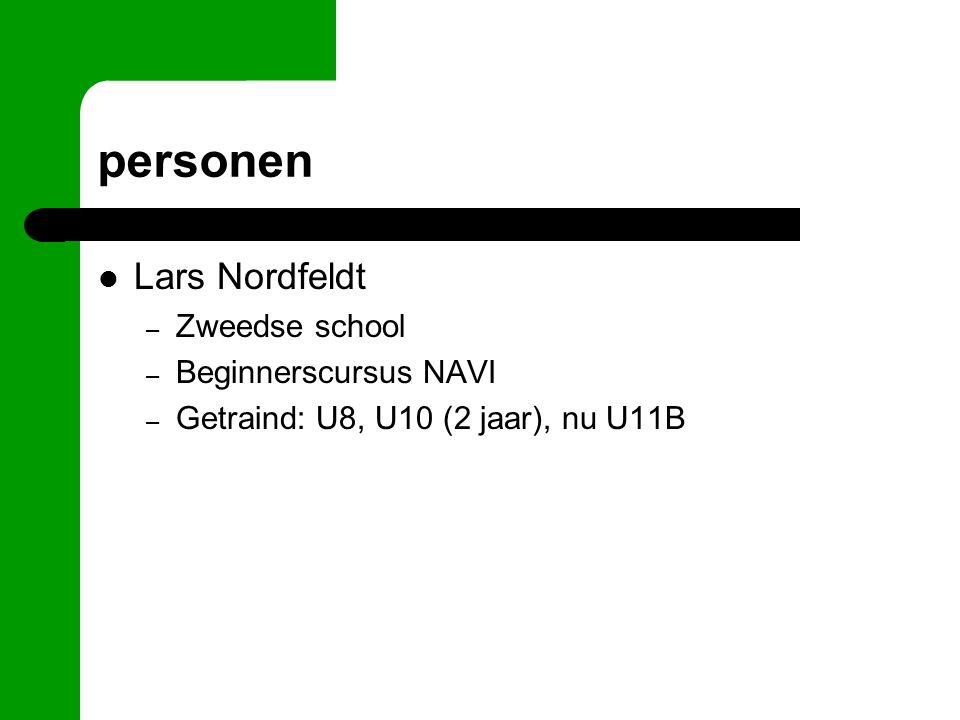 personen Lars Nordfeldt – Zweedse school – Beginnerscursus NAVI – Getraind: U8, U10 (2 jaar), nu U11B