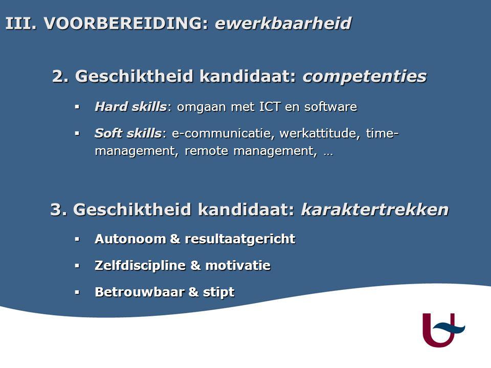 2. Geschiktheid kandidaat: competenties 2.