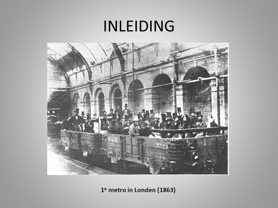 INLEIDING 1 e metro in Londen (1863)