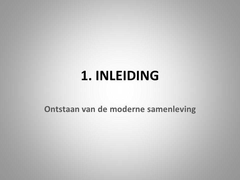 1. INLEIDING Ontstaan van de moderne samenleving