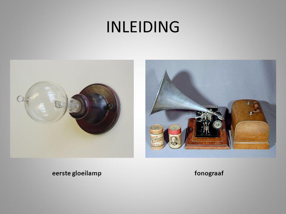INLEIDING eerste gloeilampfonograaf