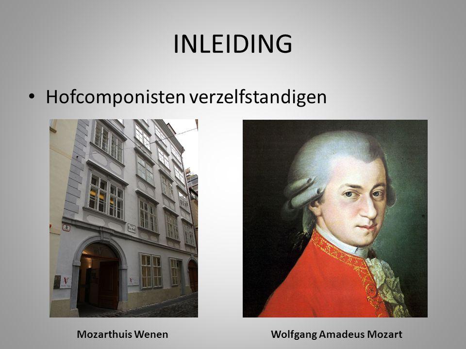 INLEIDING Hofcomponisten verzelfstandigen Mozarthuis WenenWolfgang Amadeus Mozart