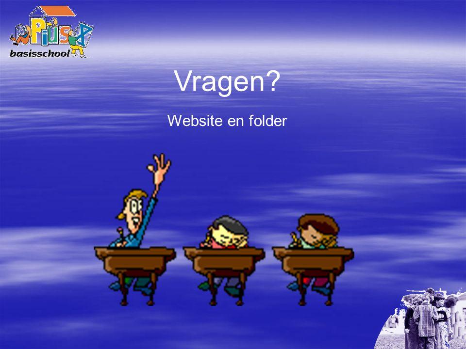 Vragen? Website en folder