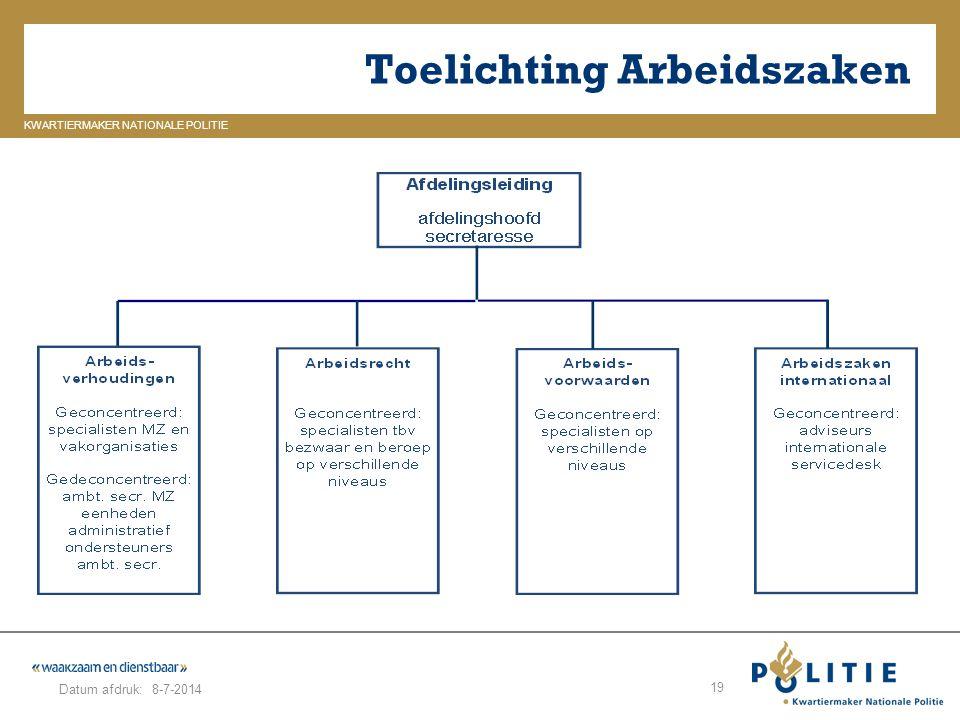 GELDERLAND_ZUID KWARTIERMAKER NATIONALE POLITIE Datum afdruk: Toelichting Arbeidszaken 8-7-2014 19