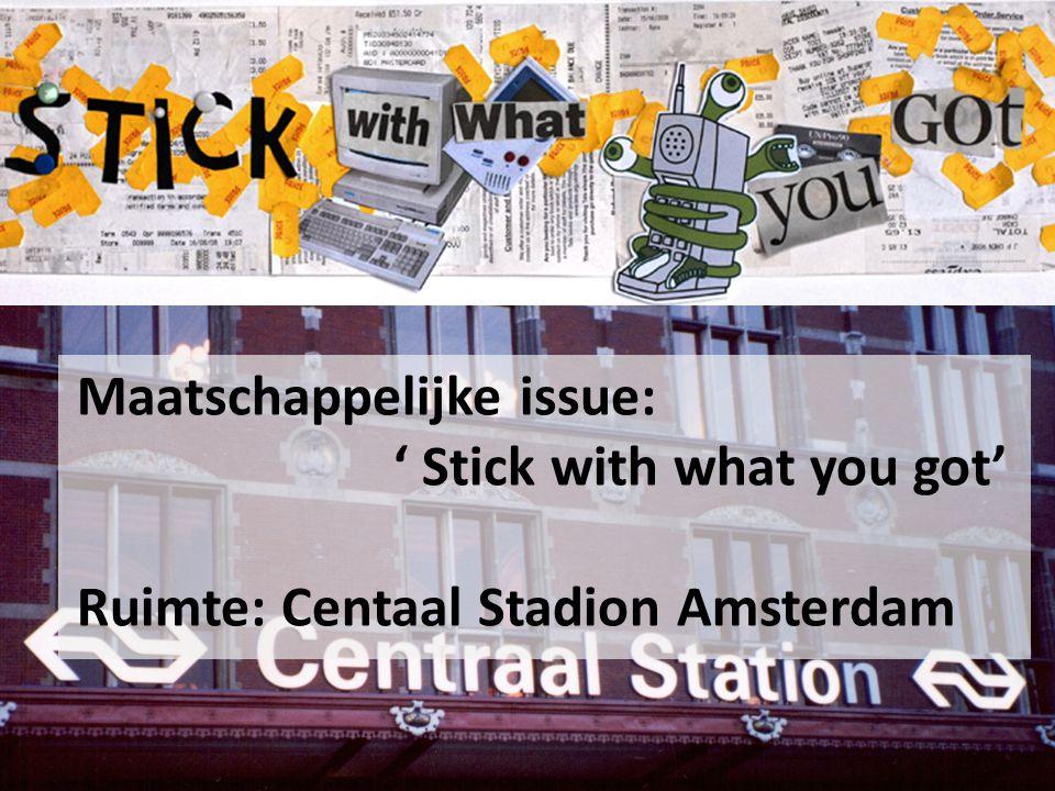 Maatschappelijk issue : stick with you what you got 'bergen afval?' jongeren, die mee willen gaan met het nieuwste Interventie:stadion van Amsterdam lopen elke dag duizendende jongeren.