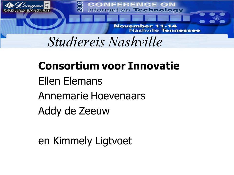 Studiereis Nashville Consortium voor Innovatie Ellen Elemans Annemarie Hoevenaars Addy de Zeeuw en Kimmely Ligtvoet