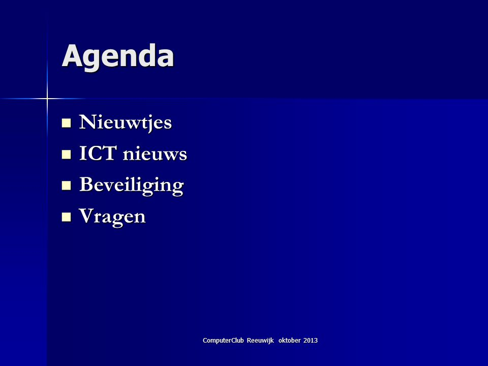 ComputerClub Reeuwijk oktober 2013 Windows XP 2 3.