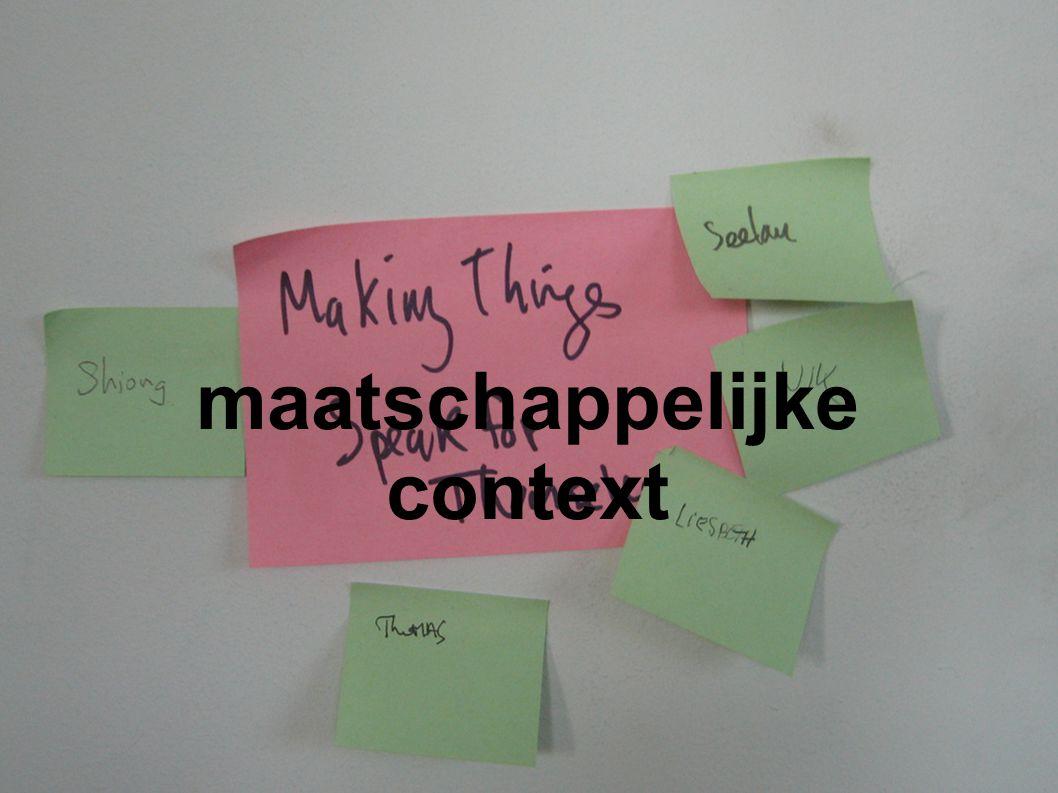 maatschappelijke context