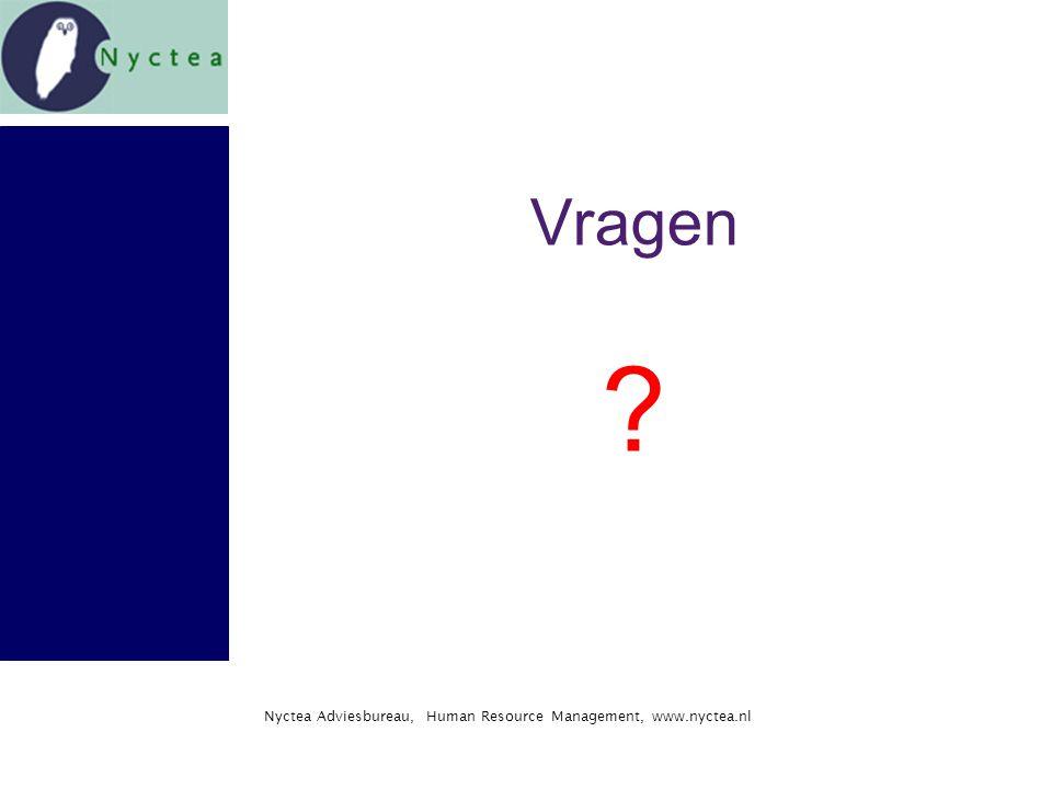 Nyctea Adviesbureau, Human Resource Management, www.nyctea.nl Vragen